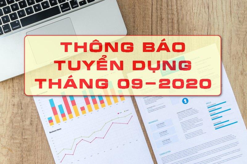 Thông báo tuyển dụng tháng 09-2020: Tuyển dụng nhân viên Quảng bá ngành giống - phân bón - công nghệ cao